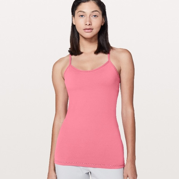 ffb51574301bb6 Lululemon Power Y Tank Luon in Cherry Tint NWT
